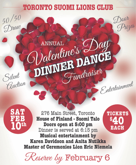 Join Our 2018 Valentine S Day Dinner Dance On Feb 10 Tslc Toronto